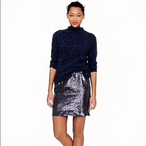 NWT J. Crew Shirttail Sequin Mini Skirt